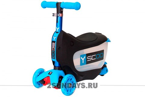 3в1 Y-SCOO Mini JumpGo aqua+lights