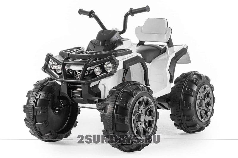 Детский квадроцикл Grizzly ATV White 12V с пультом управления 2.4G BDM0906 белый