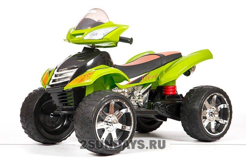 Детский электроквадроцикл BARTY Quad Pro зеленый