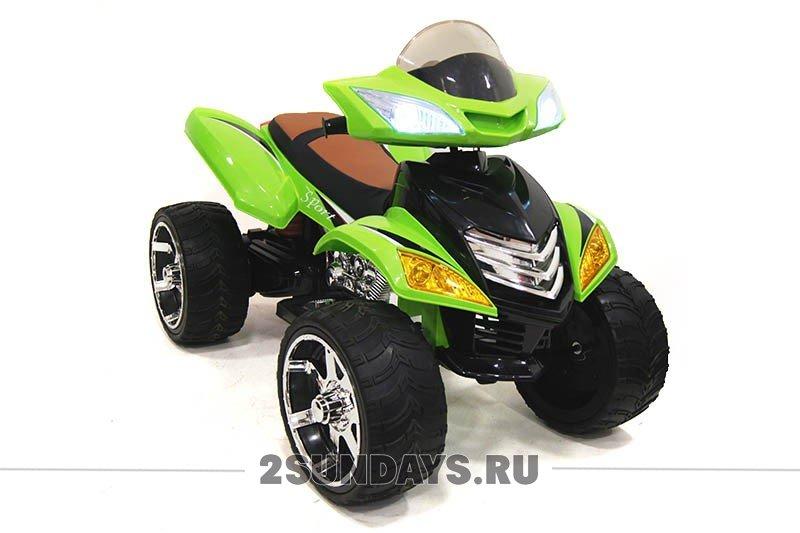Детский электроквадроцикл E005KX зеленый
